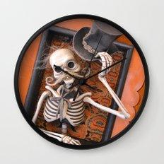 Rucus Studio Gentleman Skeleton Wall Clock