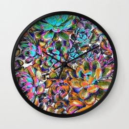 Floral tribute [galaxy] Wall Clock