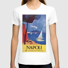 Napels Italy retro vintage travel ad T-shirt