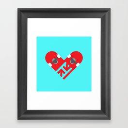 Skate Love Framed Art Print