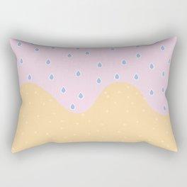 Beach rain Rectangular Pillow