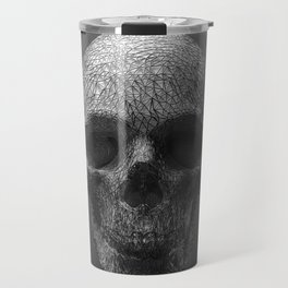 Geometric Grey Skull Lines Travel Mug