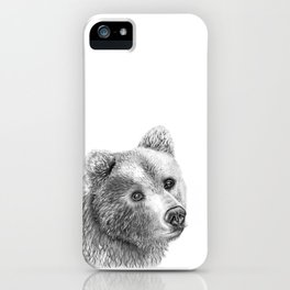 Shaggy Grizzly Bear iPhone Case