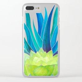 Succulent Garden ~ Blue Green Palette Clear iPhone Case