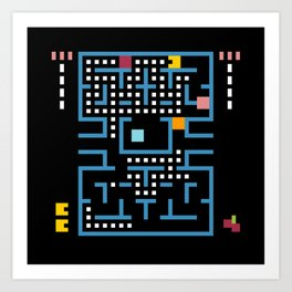 Minimal NES: Pac Man Art Print
