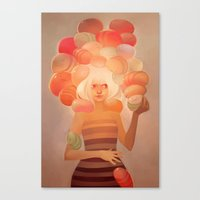 loish Canvas Prints featuring Glow by loish