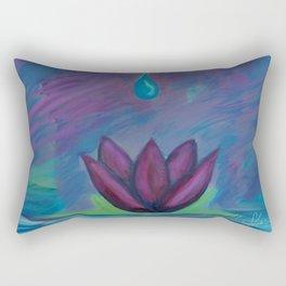 Lotus Droplet Rectangular Pillow