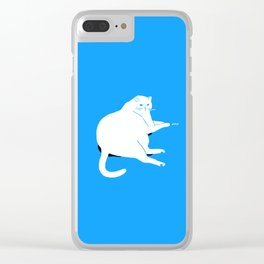 Digital dreams of a house kitty. Clear iPhone Case