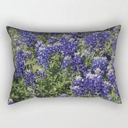 Splash of Bluebonnet Rectangular Pillow