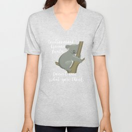 Meme Controversial Opinion Koala Doesn't Care What You Think Copy Copy Unisex V-Neck