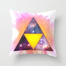 Cosmic Triforce Throw Pillow