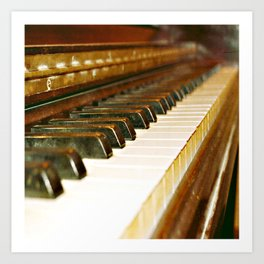 That Old Piano  Art Print