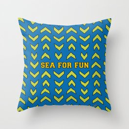 Sea for fun (blue) Throw Pillow