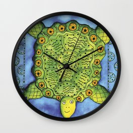 Patterned Turtle Wall Clock