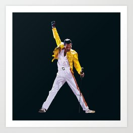 Queen artwork Freddie Bohemian Rhapsody Art Print
