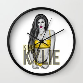 KING KYLIE Jenner Wall Clock