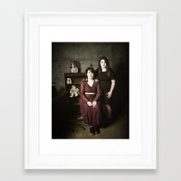 family Framed Art Prints featuring Family by Flashbax Twenty Three