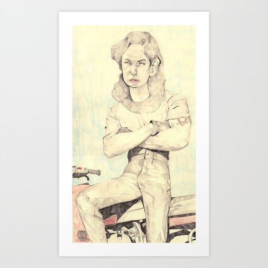 ~Biker Babe~ Art Print