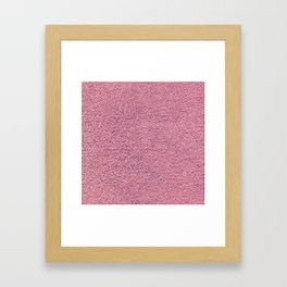 Pink Shag pile carpet Framed Art Print