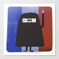 Burqa Ban - Luck be a Lady Tonight Canvas Print