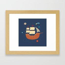 space-ship Framed Art Print