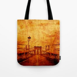 Brooklyn Burning Tote Bag