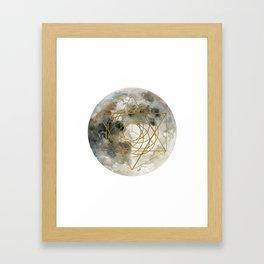 Geometric Moon #1 Framed Art Print