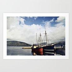 Ships at Inverary Art Print