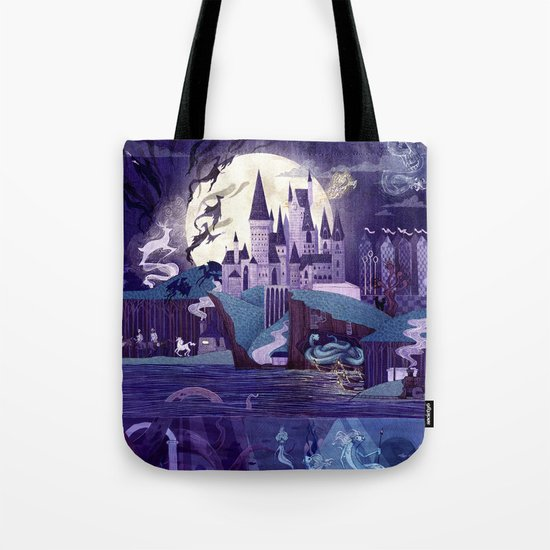 Never a Quiet Year at Hogwarts, right? Enjoy this book bag to carry all your Hogwarts Textbooks in.