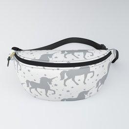 Grey Unicorn and Stars Pattern Fanny Pack