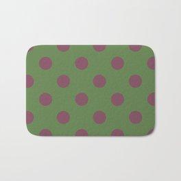 Pink and Green Pol Bath Mat
