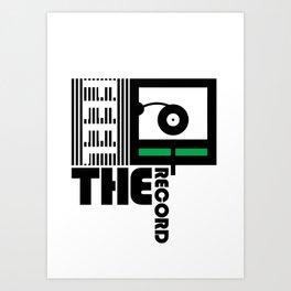 Feel The Record Art Print