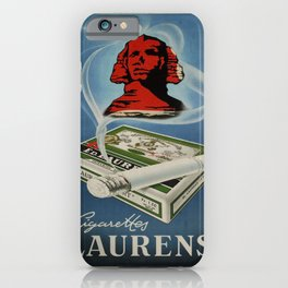 old poster cigarettes laurens egypt iPhone Case