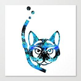 Blue Cat Diving furniture Design by diegoramonart Canvas Print