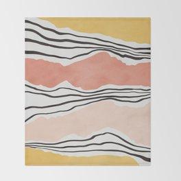 Modern irregular Stripes 01 Throw Blanket