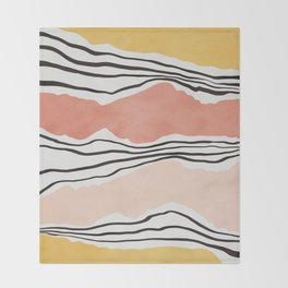 Modern irregular Stripes 01 Throw Blanket