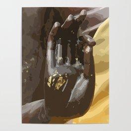 Buddha Hand Illustration Poster