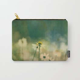 He Loves Me, Daisies Wildflowers Carry-All Pouch