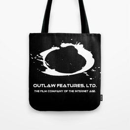 Outlaw logo black and white Tote Bag