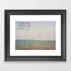 You Make the Grey Skies Okay Framed Art Print