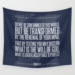 Romans 12:2 Wall Tapestry