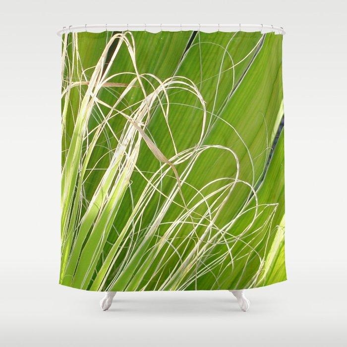 Palm Fan Art Shower Curtain