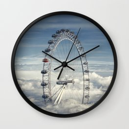 Ride Above the Clouds Wall Clock