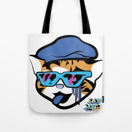 Block Party Cat: Tiger Edition Tote Bag