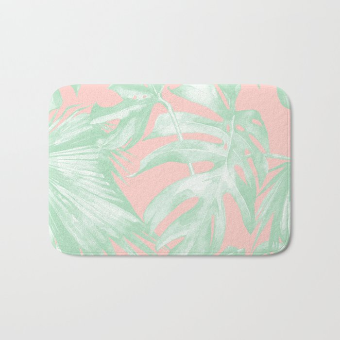Island Love Seashell Pink + Light Green Bath Mat
