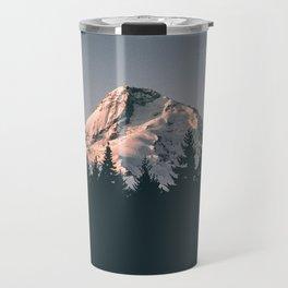 First Light on Mount Hood Travel Mug