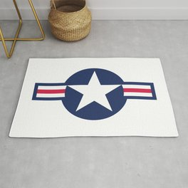 US Airforce style roundel star Rug