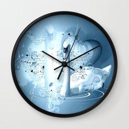 Schwanenpaar Wall Clock