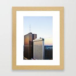 Reflected Sunset Framed Art Print