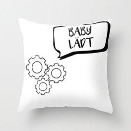 Schönes Kleinkind Geschenk werdende Eltern Throw Pillow